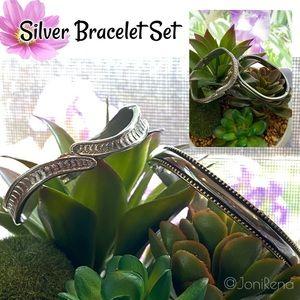 🎀 Silver Bracelet Set 🎀